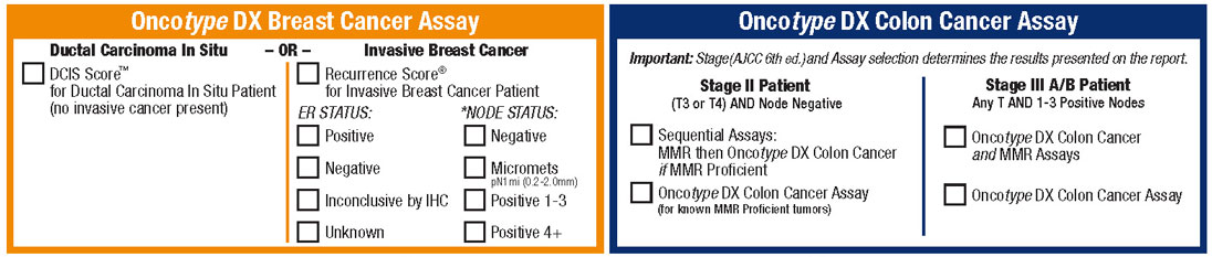 Oncotype DX Requisition Form